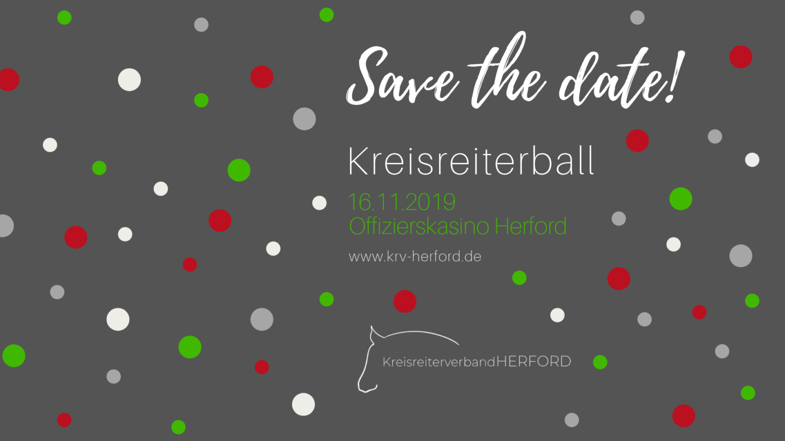 Save the date: Kreisreiterball am 16.11.2019